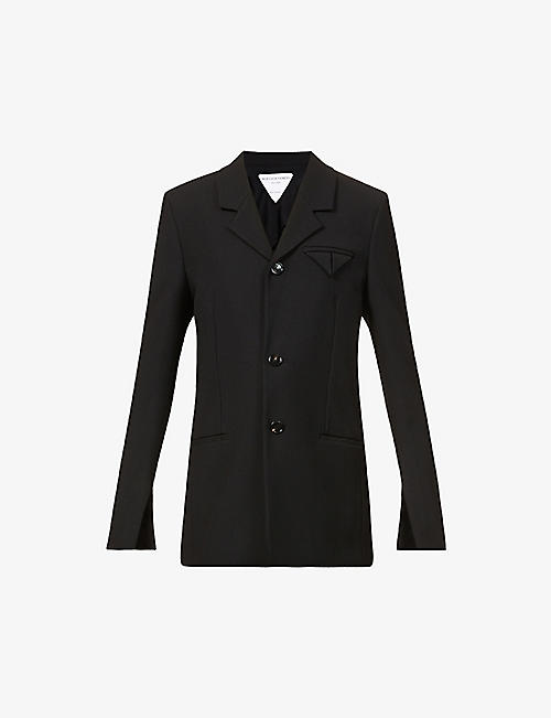 BOTTEGA VENETA: Single-breasted woven blazer