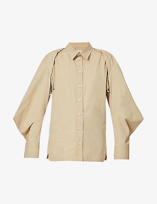 BOTTEGA VENETA: Self-tie panels cotton-blend shirt