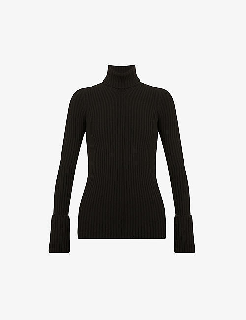 BOTTEGA VENETA: Turtleneck ribbed wool-blend jumper