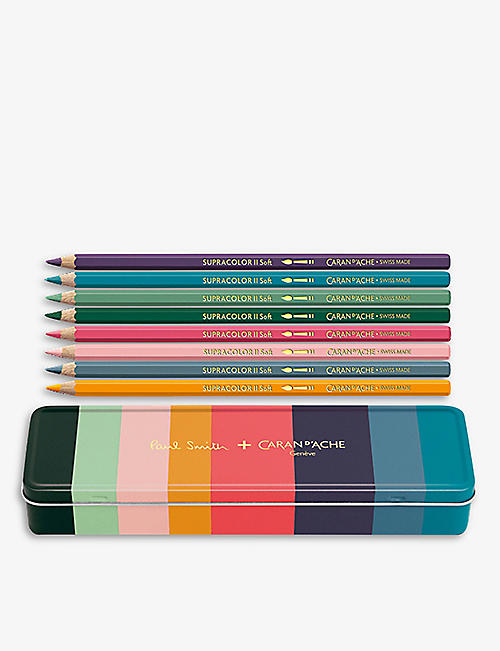 CARAN D'ACHE: Artist Stripe SUPRACOLOR® 8 pencil set
