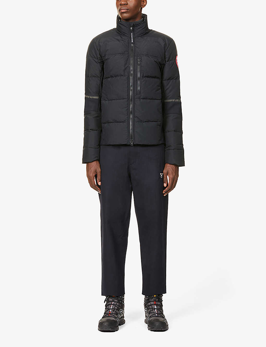 CANADA GOOSE: HyBridge Base funnel-neck shell-down jacket
