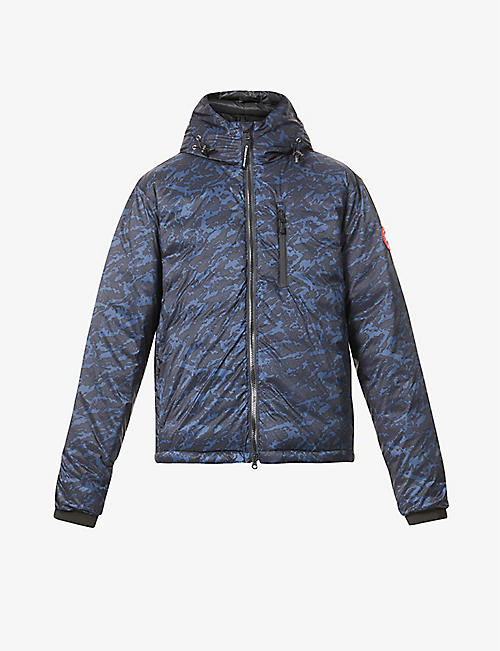 CANADA GOOSE: PBI Lodge camouflage-pattern shell-down hooded jacket