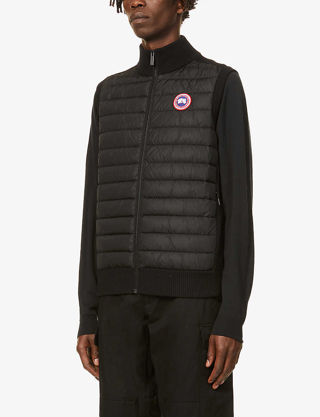 CANADA GOOSE: Hybridge quilted wool and shell-down gilet