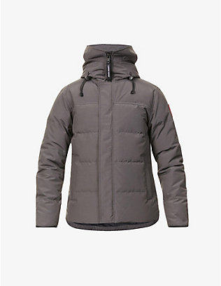 CANADA GOOSE: Macmillan funnel-neck twill-down parka jacket