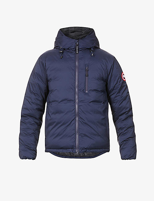 CANADA GOOSE: Lodge logo-patch shell-down hooded jacket
