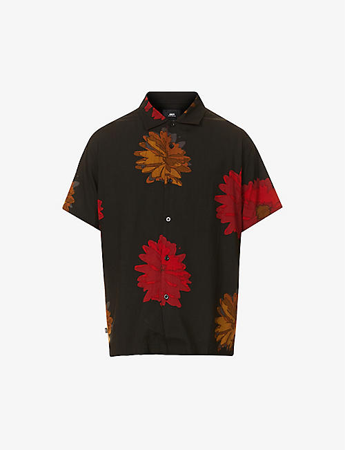 OBEY: Lou floral-pattern relaxed-fit woven shirt