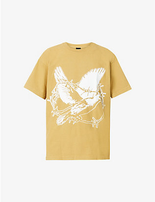 OBEY: But We Still Fight graphic-print cotton-jersey T-shirt