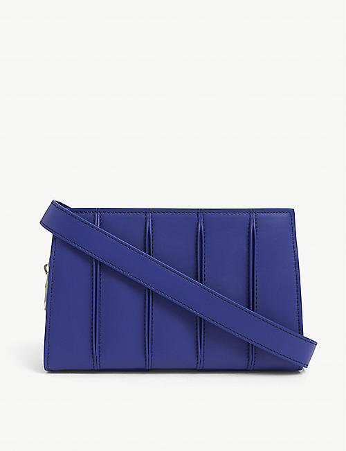 MAX MARA: Whitney small leather clutch bag