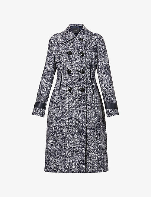 MAX MARA ATELIER: Cles double-breasted wool-blend coat