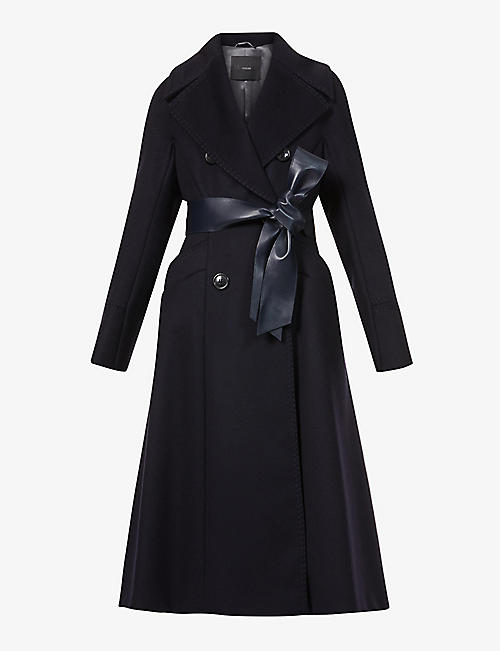 MAX MARA ATELIER: Luglio double-breasted wool and cashmere-blend coat