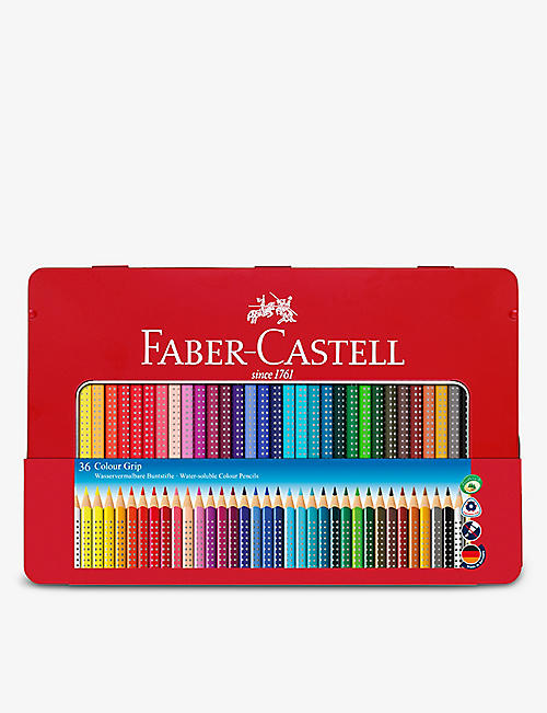 FABER CASTELL: Colour Grip pencils set of 36