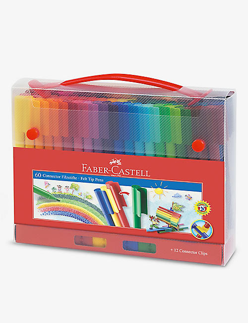 FABER CASTELL: Connector felt tip pens set of 60