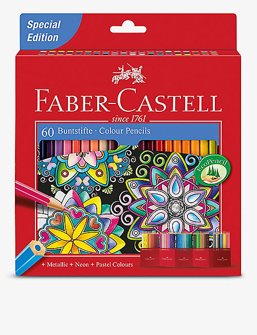 FABER CASTELL: Coloured pencils set of 60
