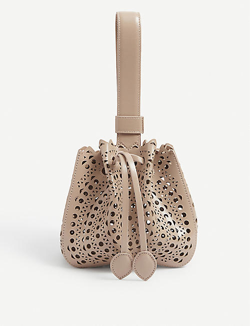 AZZEDINE ALAIA: Rose Marie leather mini bag