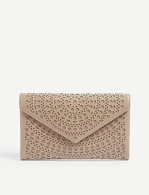 AZZEDINE ALAIA: Laser-cut leather wallet