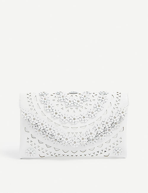 AZZEDINE ALAIA: Oum laser-cut leather wallet