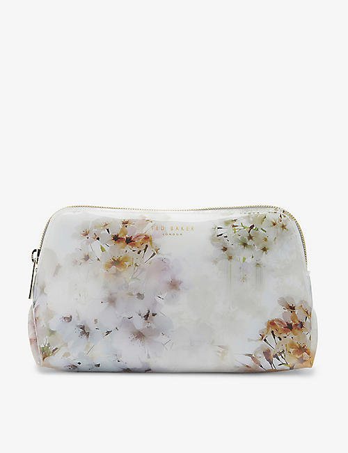 TED BAKER: Suvii Vanilla-print vinyl make-up bag
