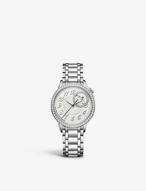 VACHERON CONSTANTIN: 4605F/110A-B495 Egérie stainless steel and diamond self-winding watch