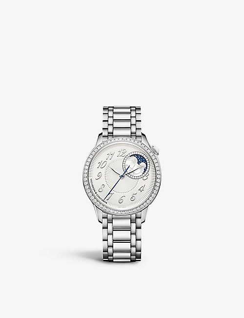 VACHERON CONSTANTIN: 8005F/120A-B497 Egérie Moon Phase stainless-steel and diamond automatic watch