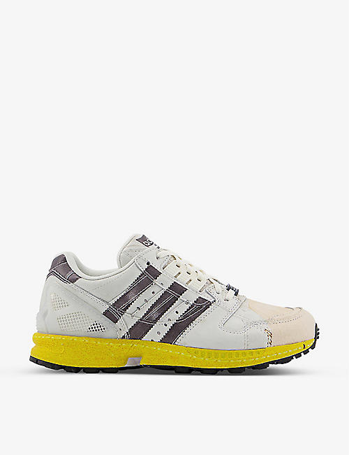 ADIDAS: ZX8000 suede and mesh trainers