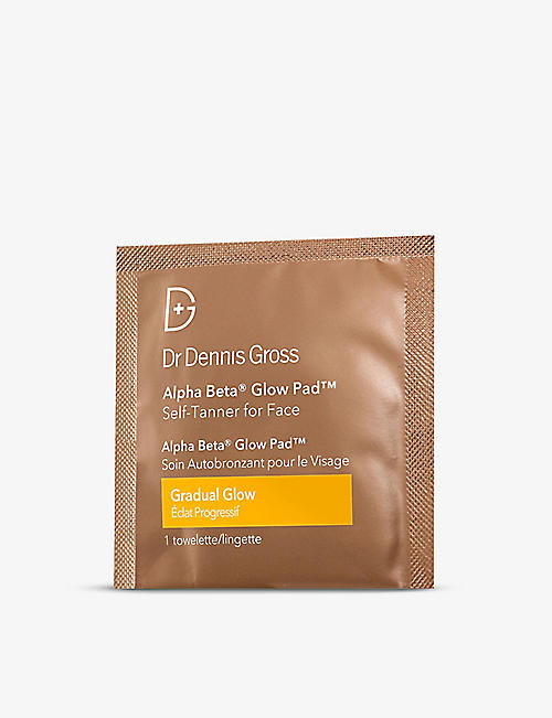 DR DENNIS GROSS SKINCARE: Alpha Beta® Glow Pad™ Gradual Glow self-tanner for face pack of 20
