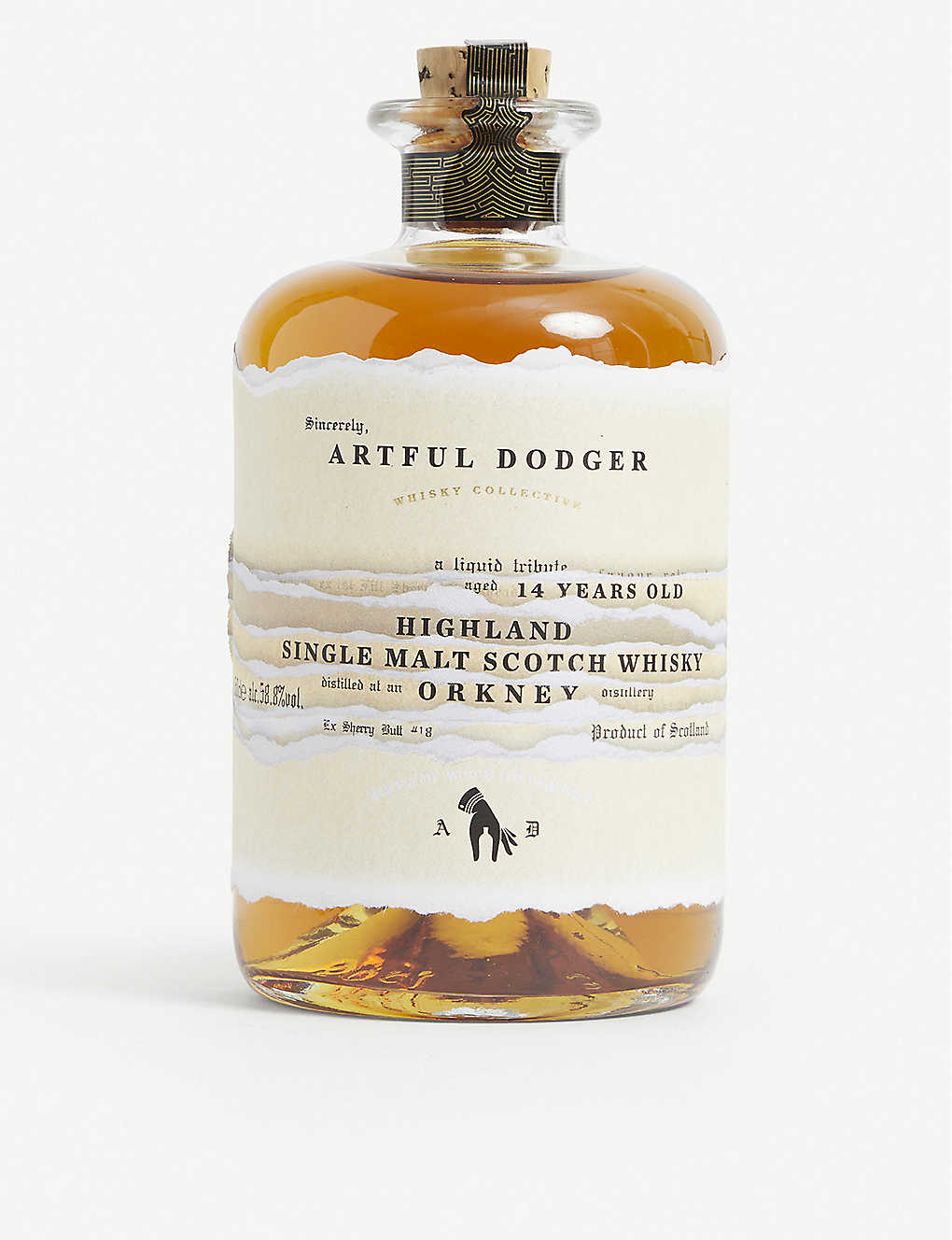WHISKY AND BOURBON: Artful Dodger 14-year-old Orkney Highland single malt Scotch whisky 500ml