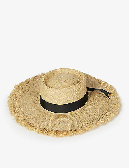 LACK OF COLOR: Ventura raffia straw boater hat