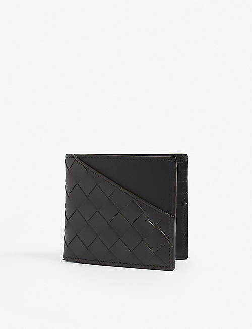 BOTTEGA VENETA: Intrecciato woven leather wallet