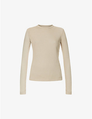 COTTON CITIZEN: The Verona ribbed cotton-blend top