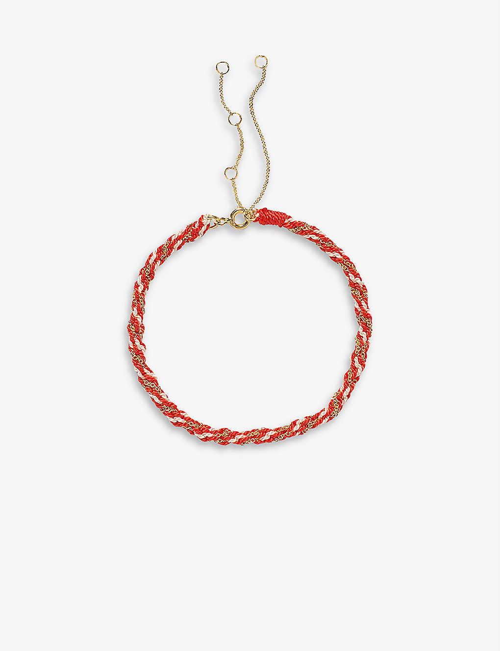 THE ALKEMISTRY: Kumachi 18ct yellow-gold and silk cord bracelet