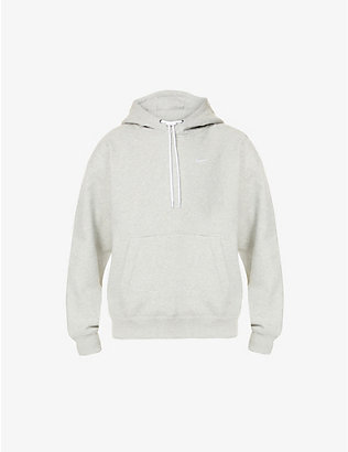 NIKE: Logo-branded cotton-blend hoody