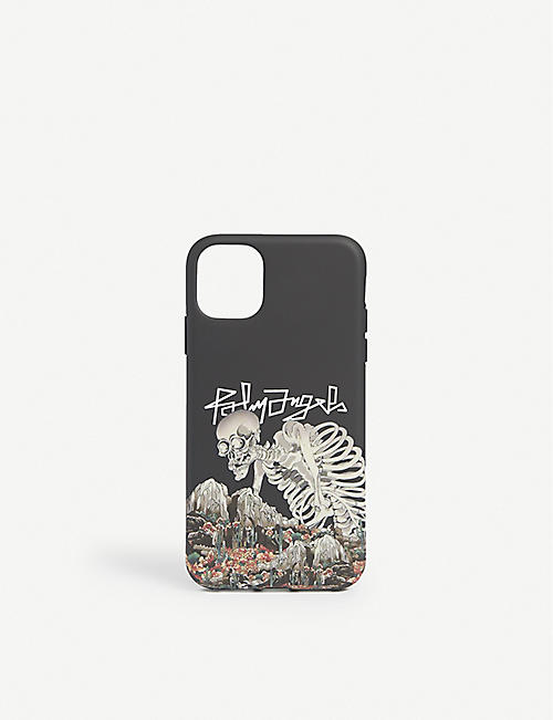 PALM ANGELS: Desert-logo skull iPhone 11 case
