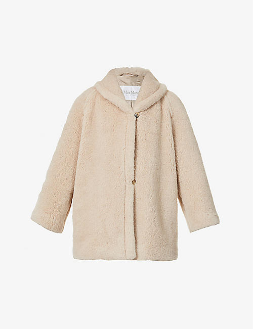 MAX MARA: Teddy alpaca, wool and silk-blend coat