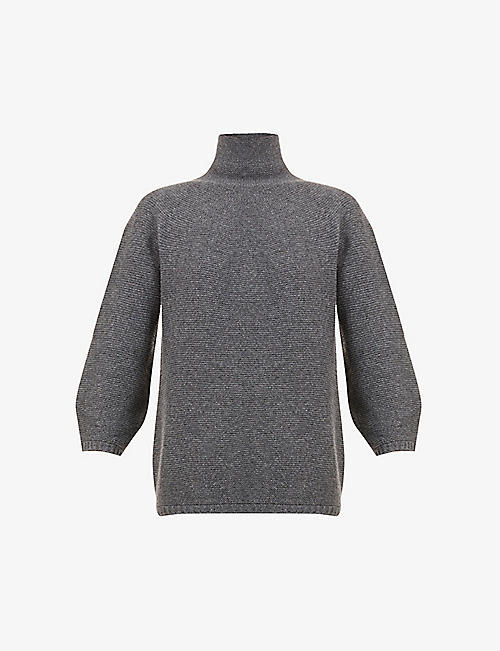 MAX MARA: Etrusco turtleneck wool- and cashmere-blend jumper