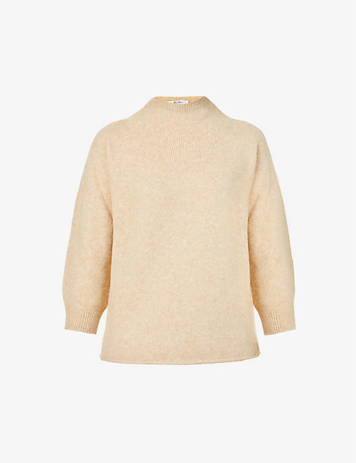 MAX MARA: Campo high-neck wool and camel-blend jumper