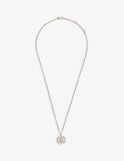 CLAUDIE PIERLOT: Astar star-pendant gold-toned necklace