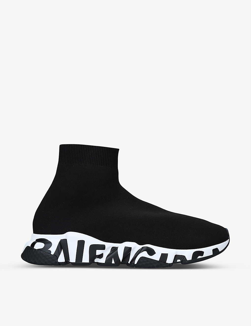 BALENCIAGA: Speed Graffiti Sole knitted trainers