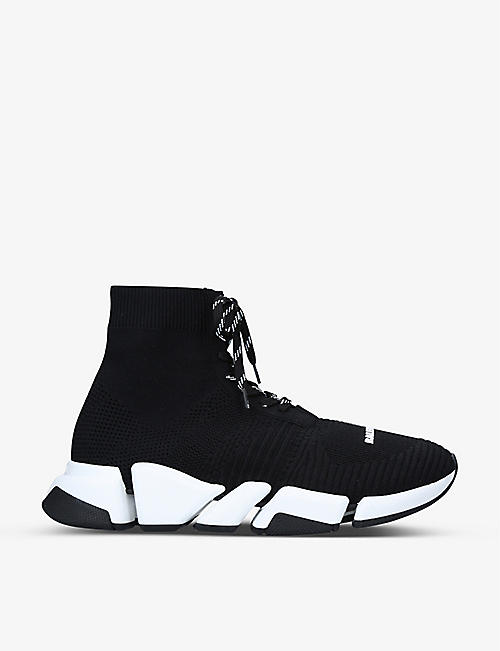 BALENCIAGA: Men's Speed 2.0 stretch-knit mid-top trainers