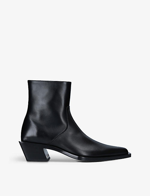 BALENCIAGA: Tiaga leather heeled ankle boots