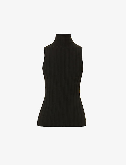 ANINE BING: Miranda turtleneck wool-blend top