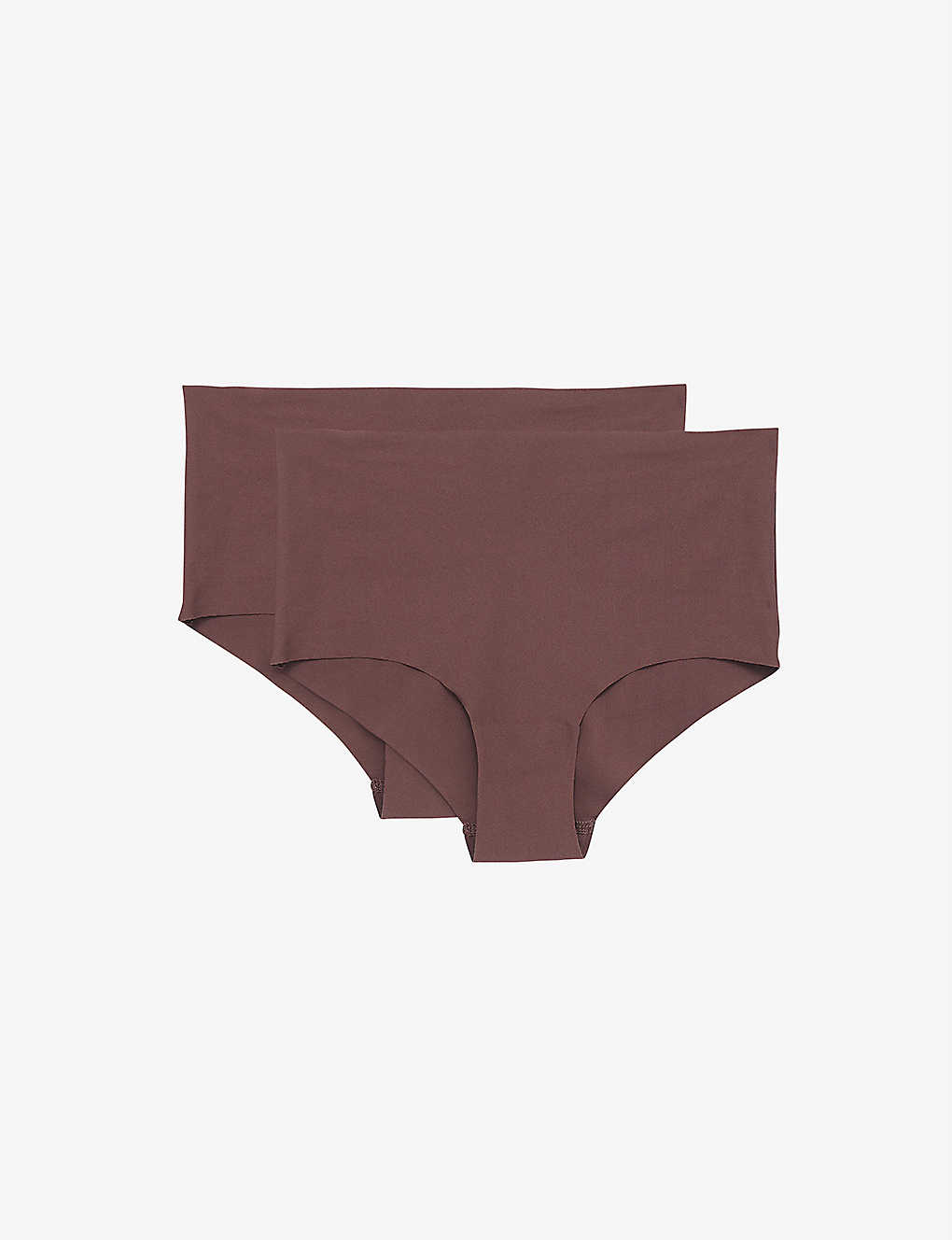 ORGANIC BASICS: Invisible high-rise nylon-blend briefs pack of two