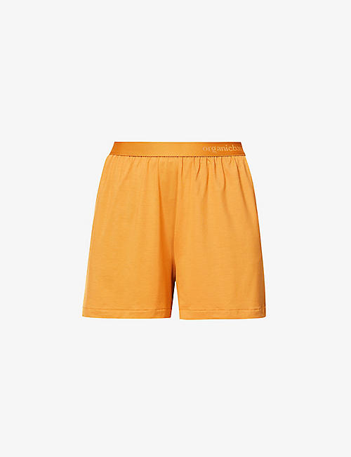 ORGANIC BASICS: High-rise stretch-lyocell shorts