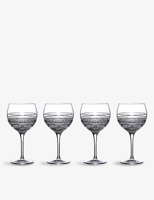 ROYAL DOULTON: Radial Balloons crystal gin glasses set of four 560ml