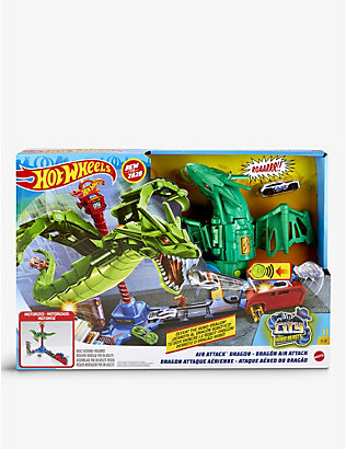 HOTWHEELS: City Air Attack Dragon playset