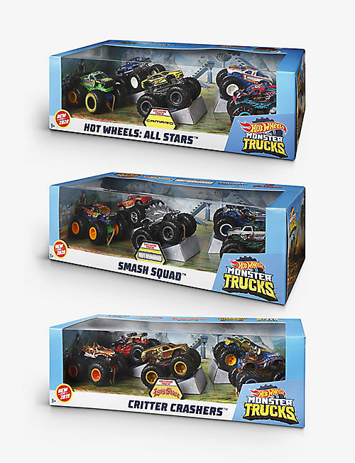 HOTWHEELS: Monster Trucks Critter Crashers assorted toy set