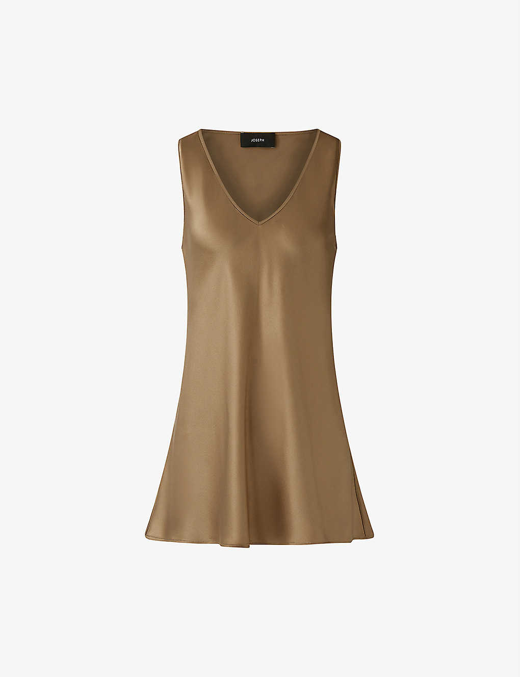 JOSEPH: Belva V-neck silk-satin blouse