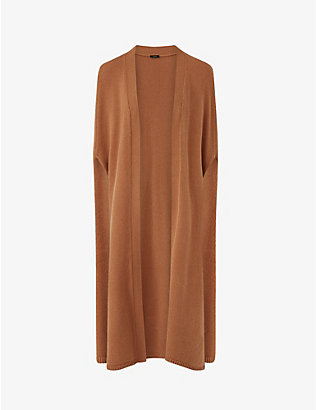 JOSEPH: Lina wool and cashmere-blend cape