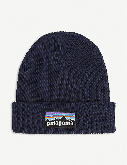 PATAGONIA: Logo-patch recycled knitted beanie