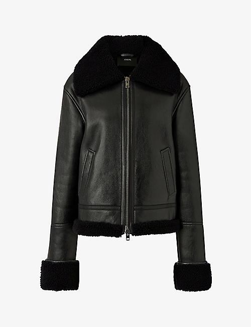JOSEPH: June leather and shearling jacket