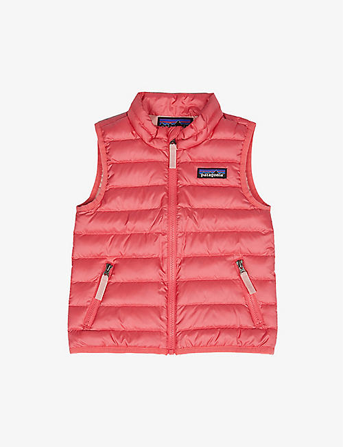 PATAGONIA: Padded high-neck recycled-polyester gilet 6-36 months